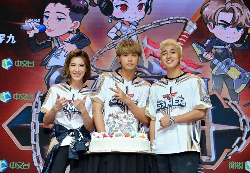 ▲小禎(左)、婁峻碩(右)為陳零九慶生。(圖/衛視)