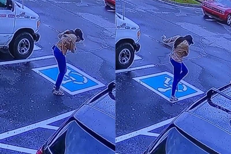 ▲瓊斯順利結束面試後,走到停車場時,忍不住跳起舞來。(圖/翻攝自《dakara_spence》IG