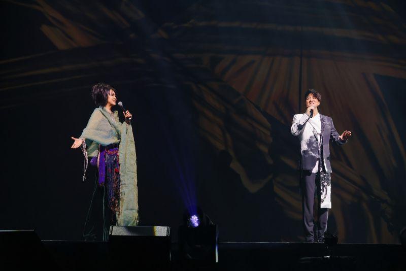 周華健在台北小巨蛋舉辦「少年俠客」巡迴演唱會。(圖/滾石唱片提供)