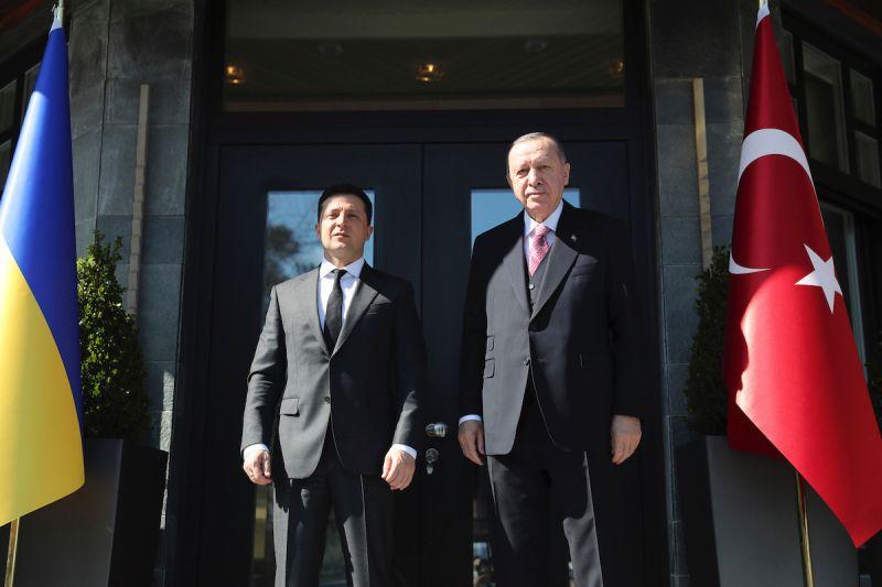土耳其總統艾爾段與烏克蘭總統澤倫斯基