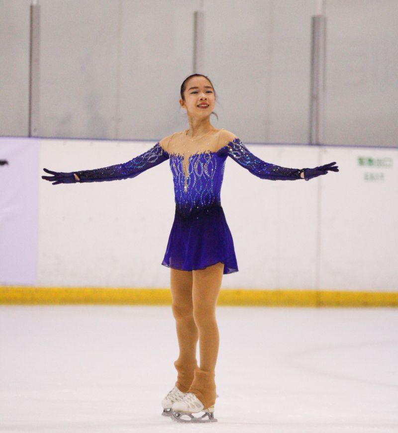 ▲台灣「滑冰一姐」丁子涵今在青年盃滑冰錦標賽菁英女子成年組短曲中亮相,一登場就一鳴驚人,表現優異。(圖/官方提供)