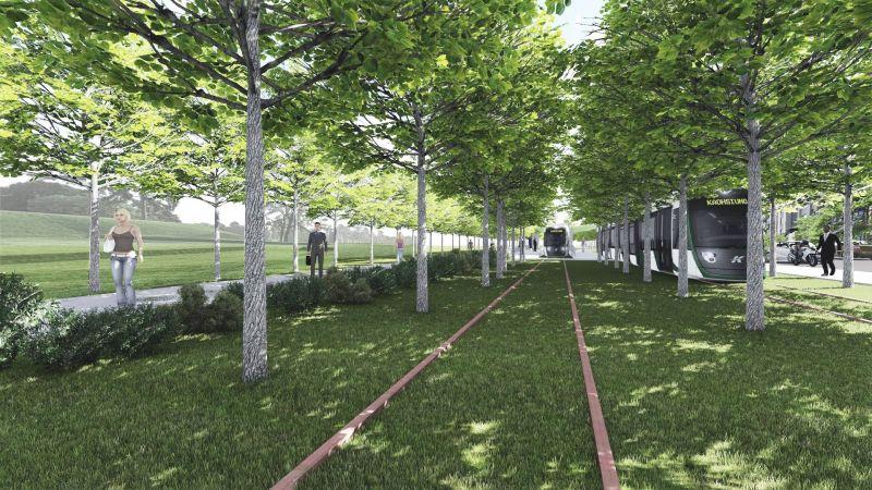 ▲▲捷運局表示輕軌二階美術館及大順路段,將與居民充分溝通創造多贏。(圖/高市府捷運局提供)