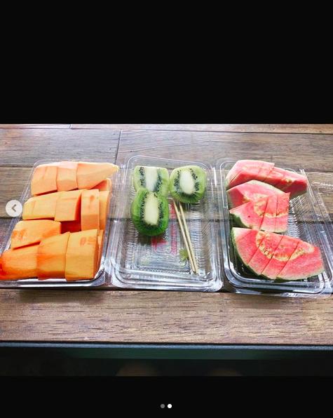 ▲陳妍希透露自己開工時,只吃水果餐。(圖/陳妍希IG)