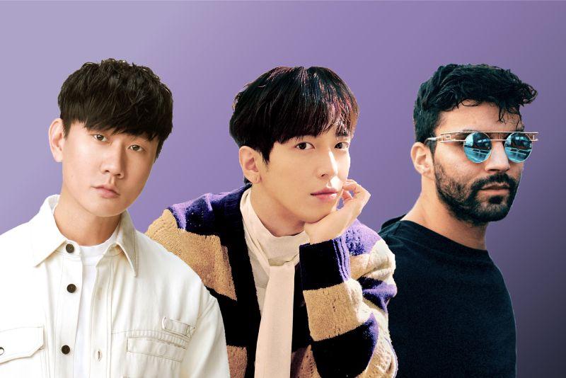 ▲鄭容和找來林俊傑(左)跟R3HAB(右)共譜EDM主流潮歌。(圖/華納)