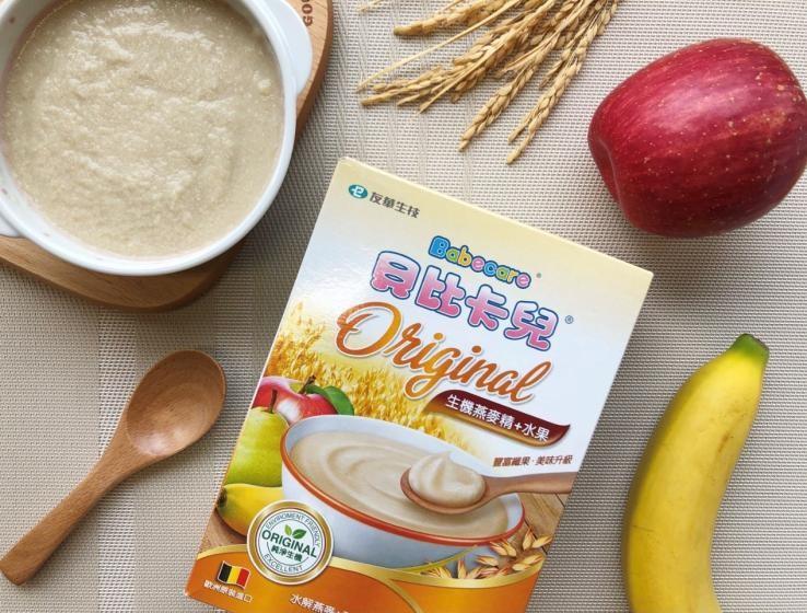 ▲生機燕麥精則搭配三種水果,提升纖維質及維生素A、C,不僅風味更佳,也能夠補充寶寶需要的營養素。(圖/NOWnews攝)