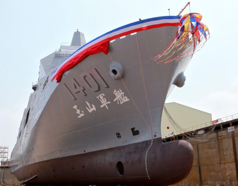 ▲海軍新型兩棲船塢運輸艦─玉山軍艦。(圖/記者黃守作攝,2021.04.13)