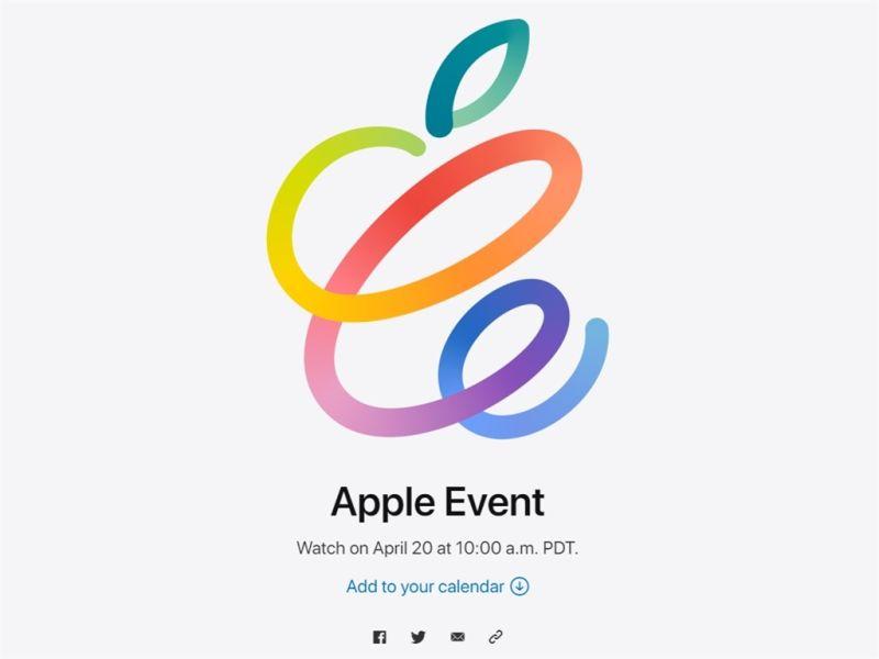 ▲Apple14日發出邀請函宣布,將於台灣時間21日凌晨1時舉辦線上發表會,外界預期可能推出新款iPad或全新配件AirTag。(圖/中央社)