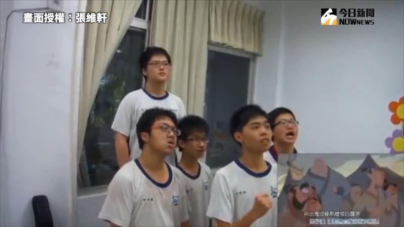 ▲同學們的肢體動作完整還原了動畫中的橋段