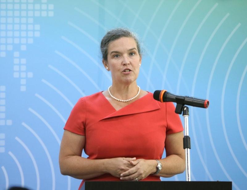 ▲美國在台協會(AIT)新任處長孫曉雅(Sandra Oudkirk)15日就任。(資料照/美聯社/達志影像)