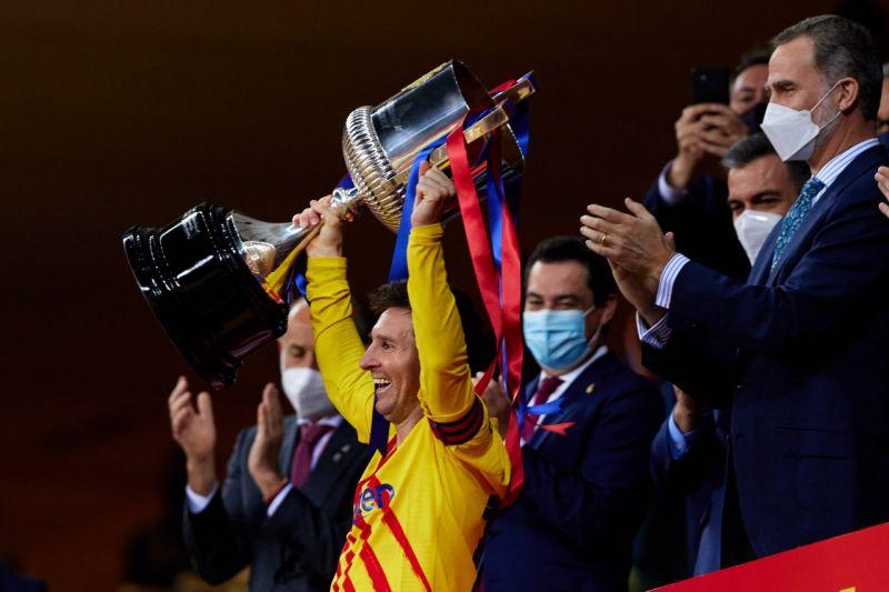 ▲梅西(Leo Messi)率領巴塞隆納奪國王盃冠軍。(圖/翻攝自巴塞隆納推特)