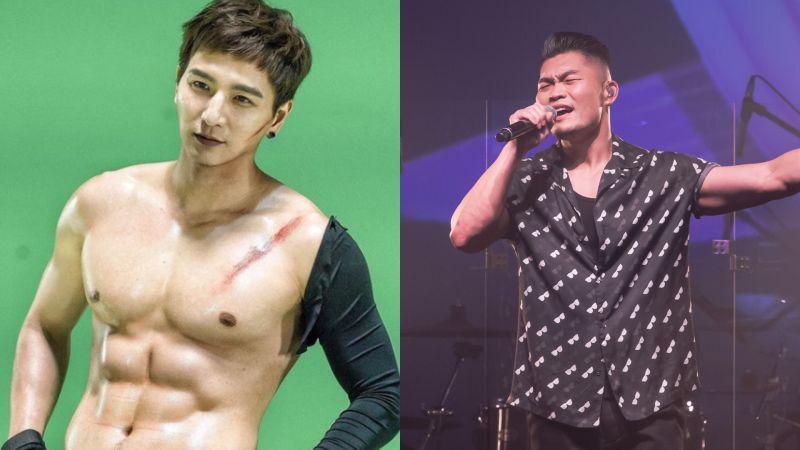 ▲小煜擔任李玖哲演唱會嘉賓,現場大方秀出6塊腹肌。(圖/小煜IG、寬宏娛樂提供)