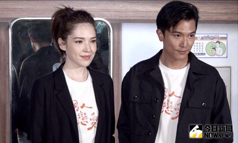 ▲許瑋甯(左)、邱澤傳假戲真做。(圖/記者陳思誼攝)