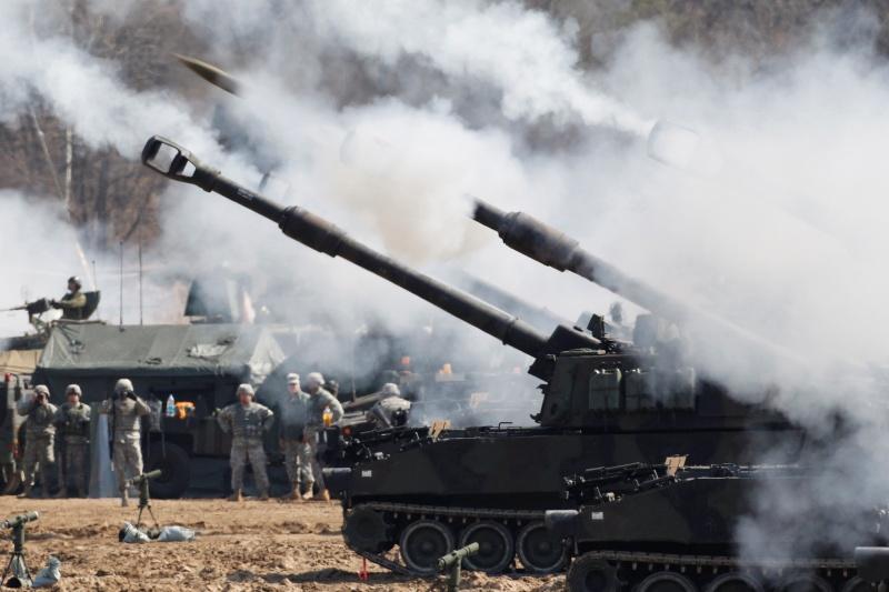 ▲近日有消息傳出,美國拜登政府可能會售台「M109A6」自走砲。資料照。(圖/美聯社/達志影像)