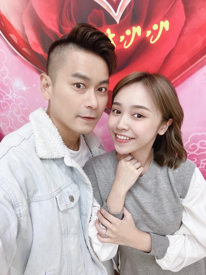 ▲陳彥廷(左)、呂璦唯結婚。(圖/翻攝呂璦唯臉書)