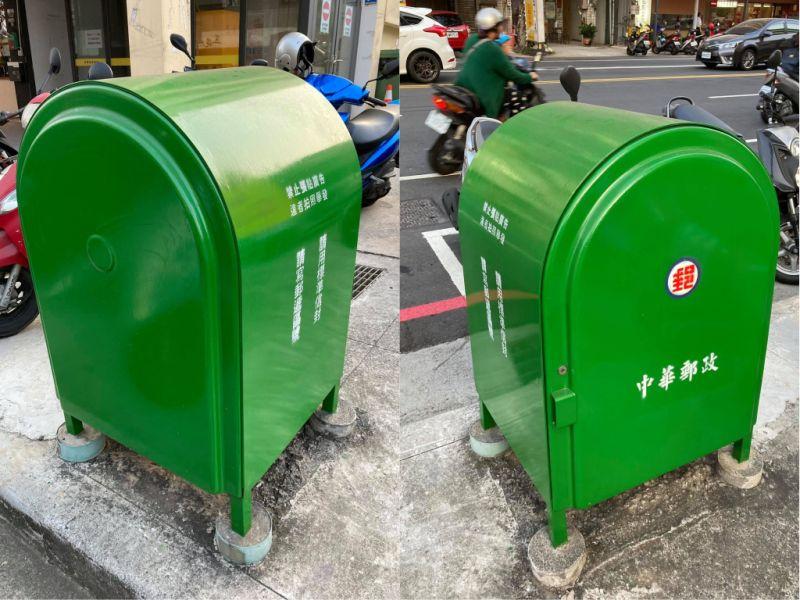 ▲原PO在路上看見一個郵筒,卻找不到投遞的洞口。(合成圖/翻攝自《爆廢公社》)