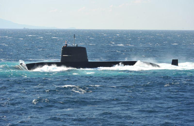 ▲日本海上自衛隊親潮級潛艦「渦潮號」。(圖/日本海上自衛隊)