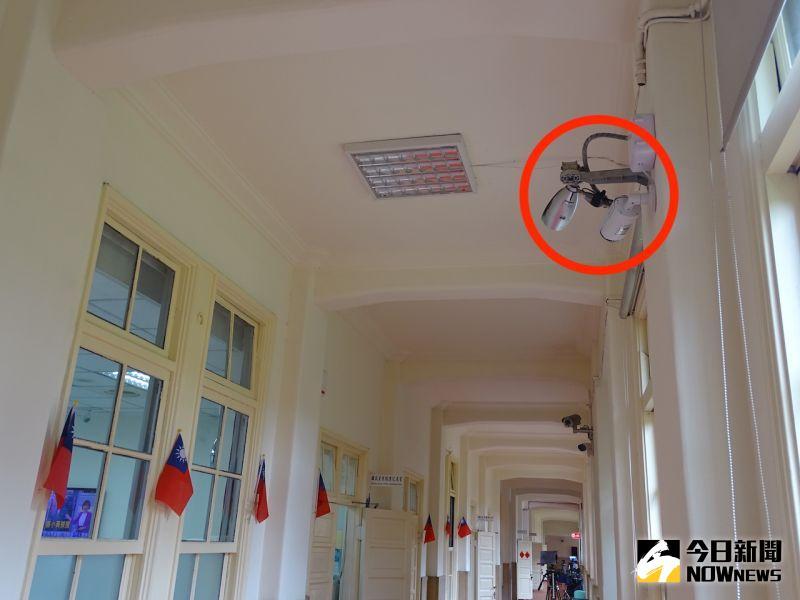 國民黨立委質疑立院裝設監視器實施政治監控。(圖/記者呂炯昌攝)