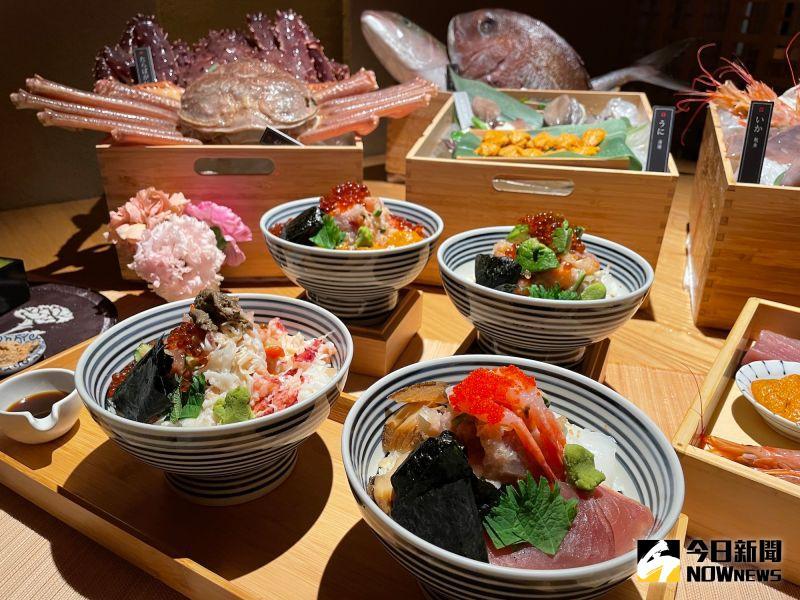 ▲日本橋海鮮丼辻半推出兩品全新海鮮珠寶盒,分別為以智利帝王蟹為主角的<雪