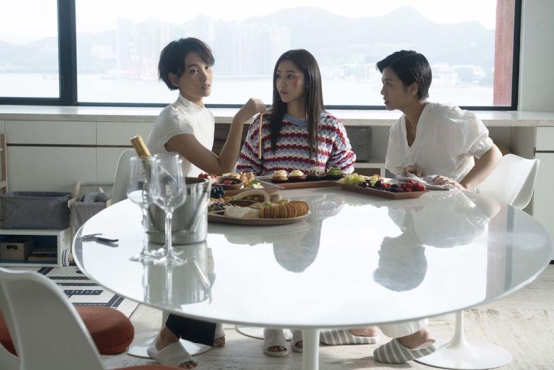 ▲談善言(左起)、衛詩雅、楊偲泳將原班人馬演出《不日成婚》續集。(圖/華映娛樂提供)