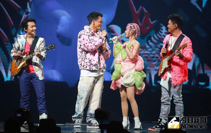 茄子蛋擔任蔡依林演唱會嘉賓。(圖/記者葉政勳攝, 2021.04.24)