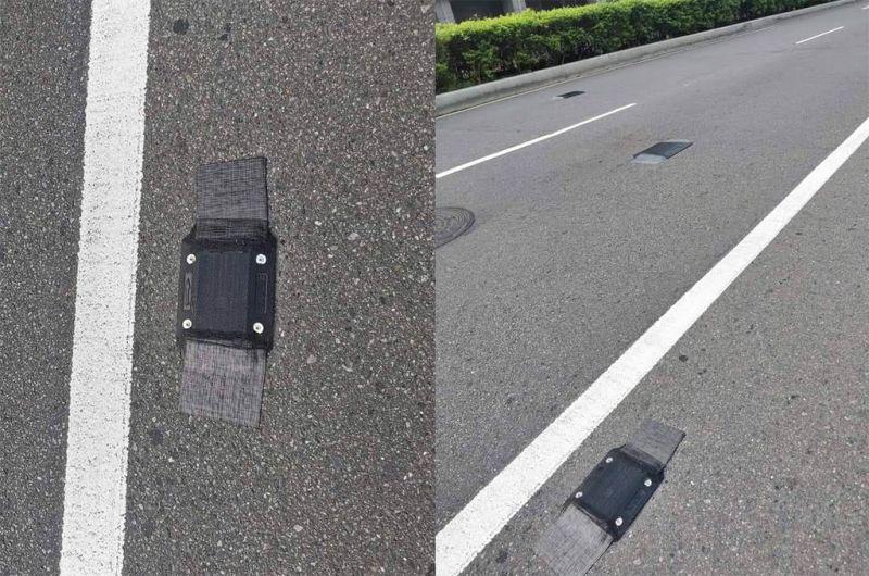 ▲這種路邊突然冒出的「黑色突起物」,其實是公路總局為了測出車流量所設置的「車流量感知器」。(示意圖/翻攝《爆廢公社》)