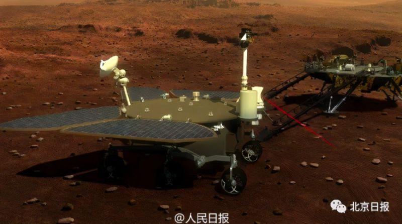 中國首輛火星車命名為「祝融號」,預計5月中下旬與「天問一號」的著陸器登陸火星。