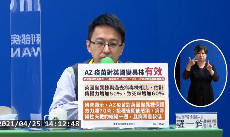 中央流行疫情指揮中心醫療應變組副組長羅一鈞。(圖/指揮中心提供)
