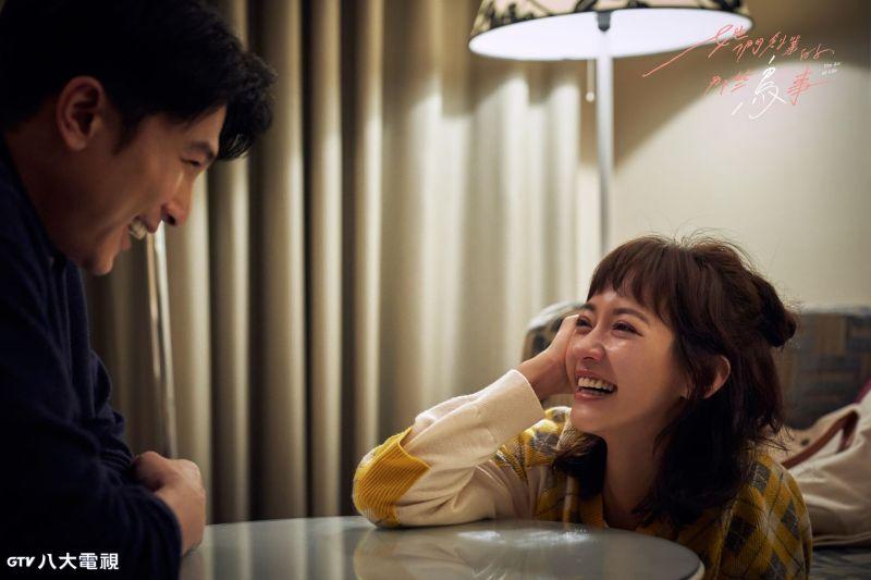 ▲邱澤(左)想出的冷笑話,把陳意涵逗得哈哈大笑。(圖/八大)
