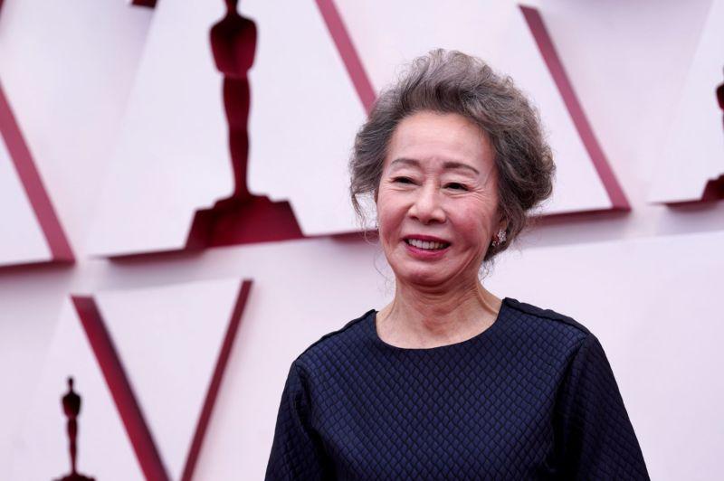 ▲南韓女演員尹汝貞以《夢想之地》勇奪奧斯卡最佳女配角獎。(圖/美聯社)