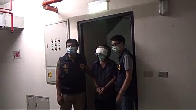 ▲警方循線在苓雅區逮捕羅嫌。(圖/翻攝畫面)
