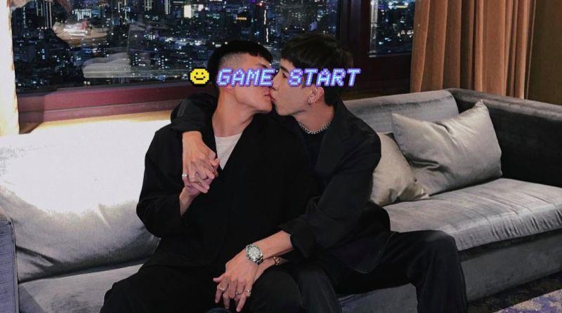 ▲網紅林進曬出與男友的甜蜜接吻照,讓不少粉絲又驚又喜。(圖/林進臉書)