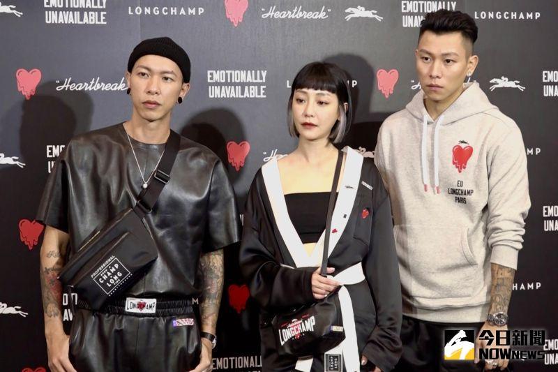 ▲小春(左起)、謝欣穎、瘦子出席活動。(圖/記者陳思誼攝)