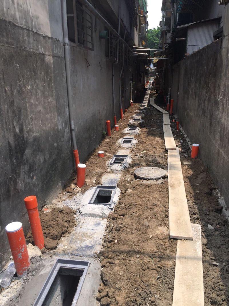▲中央的通盤考量下,以分區、分標的方式執行污水下水道接管作業。(圖/新北市政府水利局提供)