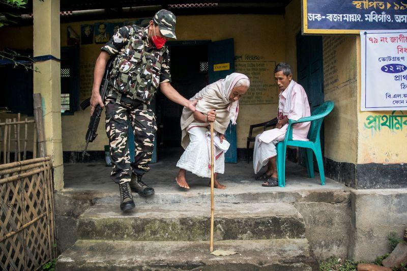 印度東北部阿薩姆省(Assam)今天發生規模6強震