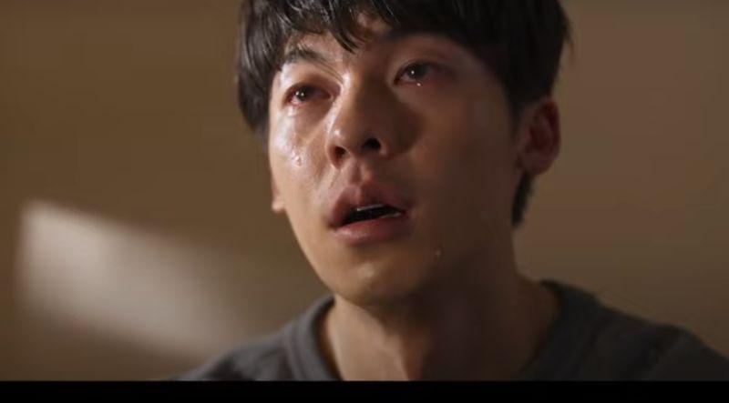 ▲許光漢在電影預告片裡的哭戲,讓影迷好心疼。(圖/翻攝《你的婚禮》預告片)