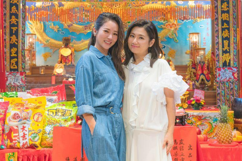 ▲Selina(右)與高宇蓁在《頭七》飾演姊妹。(圖/皮諾丘電影提供)