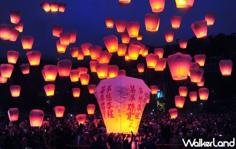▲經過歷史演變,放天燈成為平溪地區的特殊活動,並和台南鹽水的蜂炮並稱台灣最大的祈福活動。(圖/Taipei