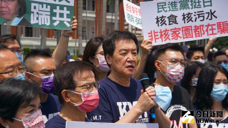 不滿「舔日賣國」!國民黨團總統府前抗議要求撤換謝長廷