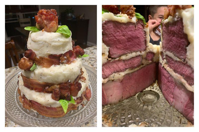 單親爸製「牛排蛋糕」幫兒慶生!超強技術 3.4萬人搶讚
