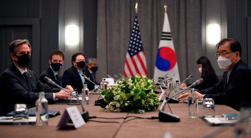 G7外長會議 布林肯與韓日談拜登政府對北韓新方針