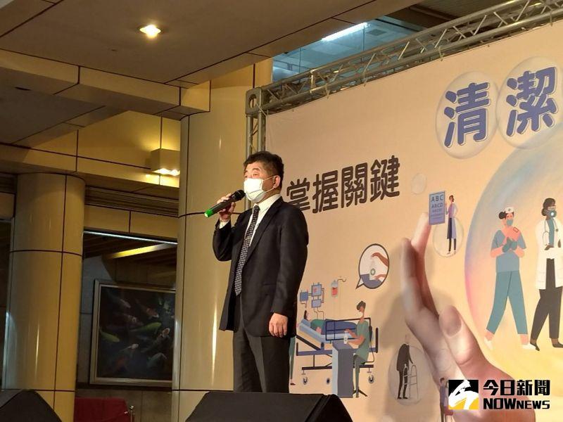 ▲衛福部長陳時中今(4)天上午出席台大醫院活動。(圖/記者劉雅文拍攝)