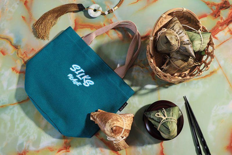 ▲台南晶英「晶霸粽香福袋」禮袋內裝五顆鹹粽,顆顆滿足。(圖/台南晶英酒店提供)