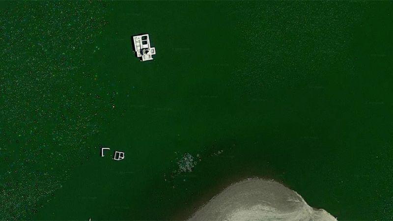 ▲多洛雷斯聖母教堂因為當地政府興建普里西馬水壩因而沉沒(圖/翻攝自Google