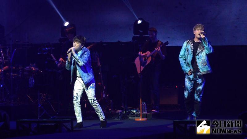 ▲「九澤CP」陳零九、邱鋒澤在北流舉辦演唱會。(圖/記者朱永強攝,