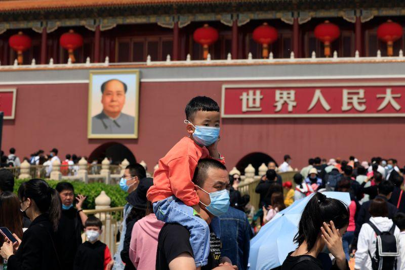 ▲中國今日公布人口普查數據,外界關注中國人口老化、少子化以及生育率等重要數據。(圖/美聯社/達志影像)