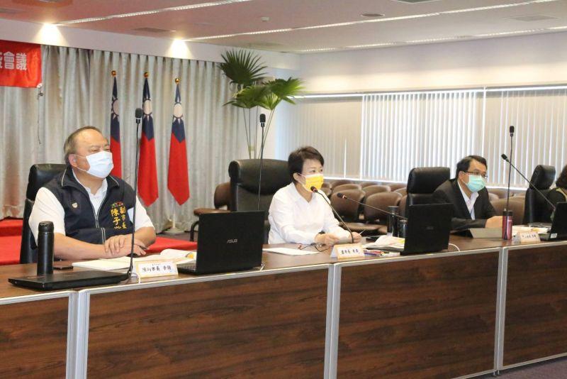 ▲疫情升級警戒二級,台中市政府加開緊急防疫會議(圖/柳榮俊攝2021.5.12)