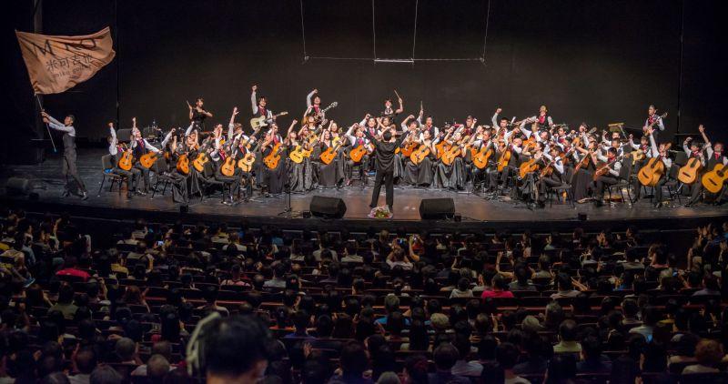 ▲被喻為華人最強吉他樂團米可吉他,在台中國家歌劇院的演出座無虛席。(圖/米可吉他提供)