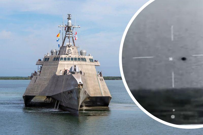 清晰UFO影片曝光!美海軍拍到「球狀物」加州外海飛行