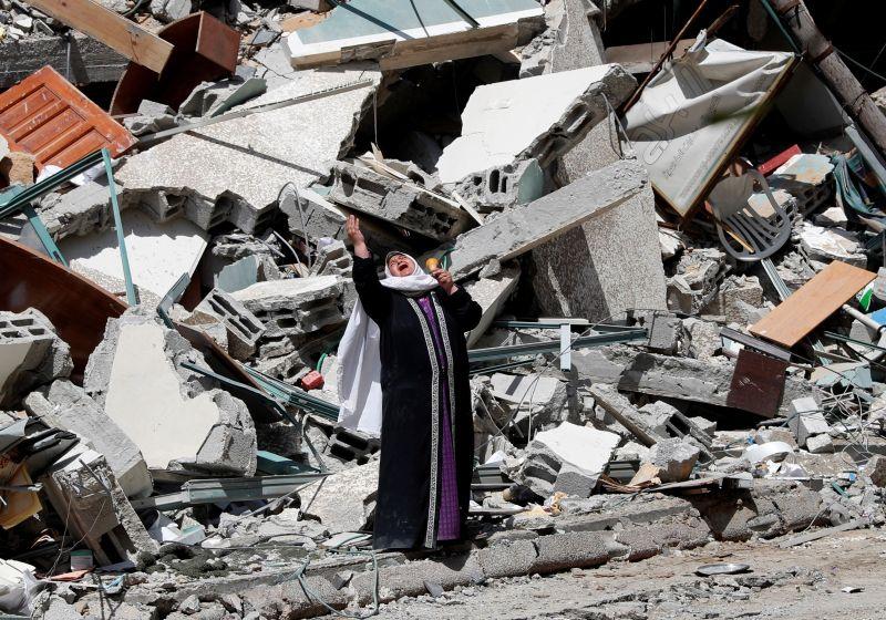 衝突升級!以國空襲加薩住宅區 至少42名巴勒斯坦人死亡
