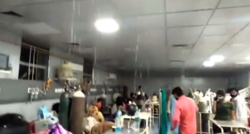 水深火熱!疫中又遭雨彈炸 印度醫院淹水、病患無助被淋